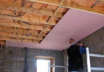Огнезащита подвесными потолками
